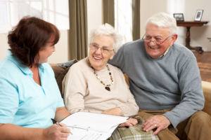 caregiver advising the patient